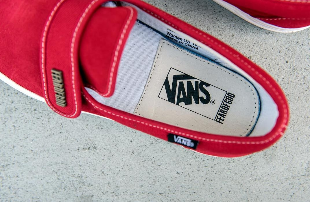 Fear of God Vans Style 147 Red