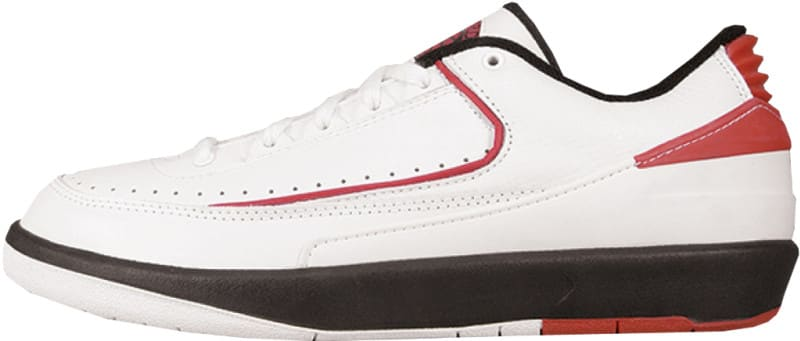 Air Jordan 2 Low White Black Red