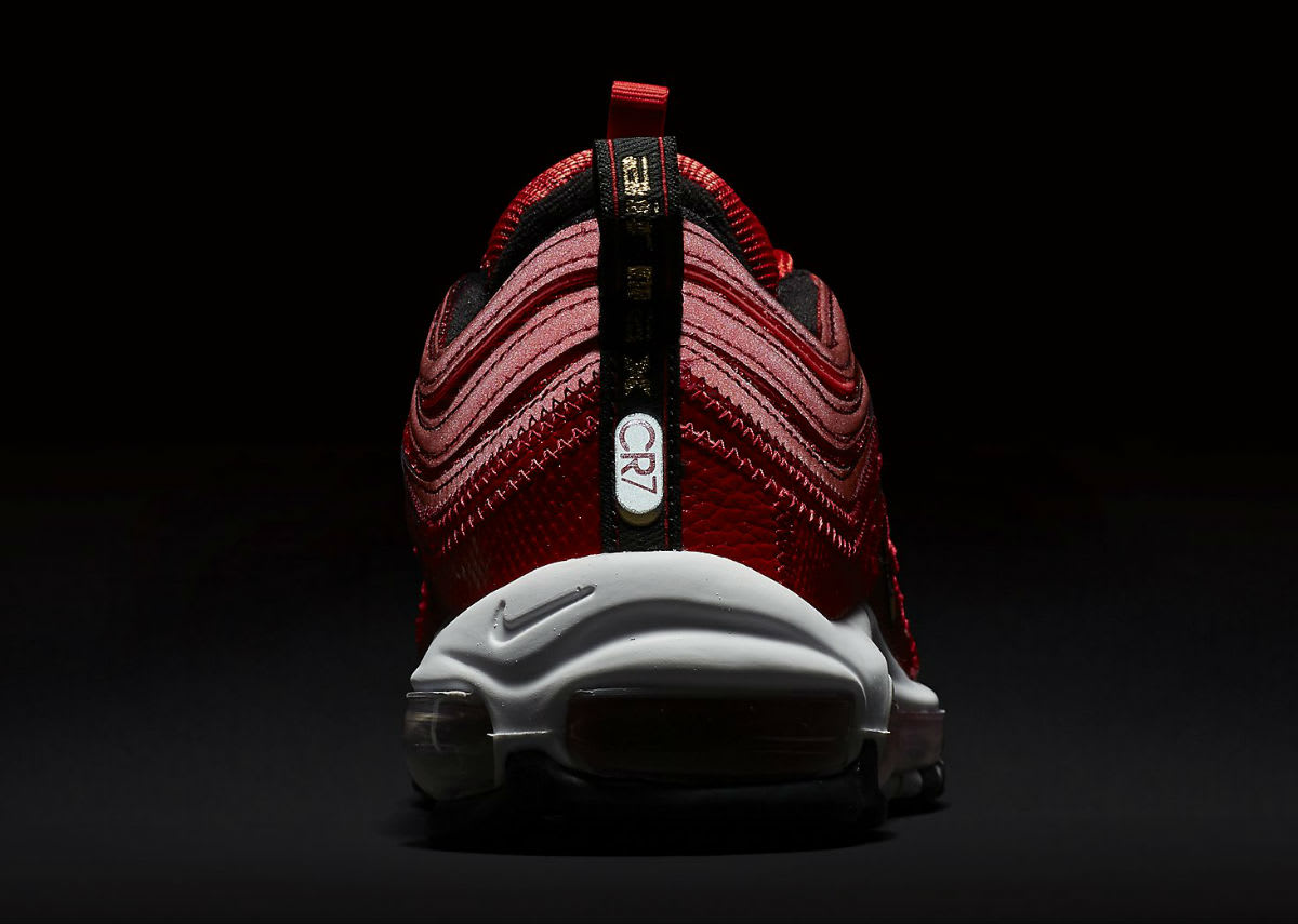 Nike Air Max 97 Patchwork CR7 Ronaldo Red Release Date AQ0655-600 Dark Heel