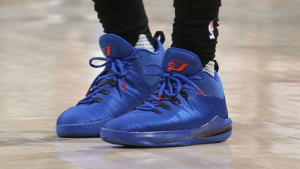 ... Chris Paul Jordan CP3.X AE BlueRed Game 6 PE Shoes ... a751a3442