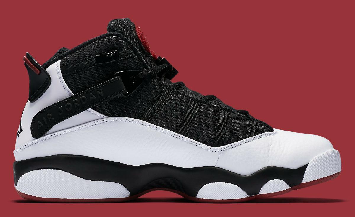 Jordan 6 Rings 2017 White Black Red Release Date Medial 322992-012