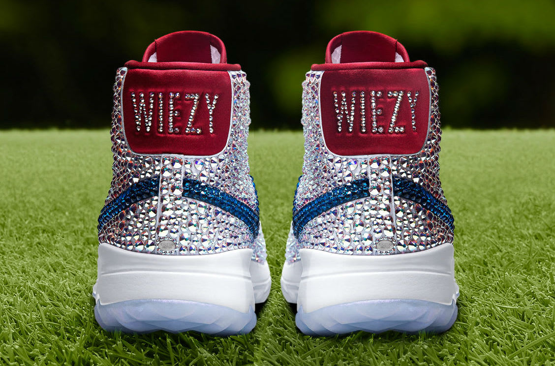 Michelle Wie Swarovski Crystal Nike Blazer Golf Shoes Heel