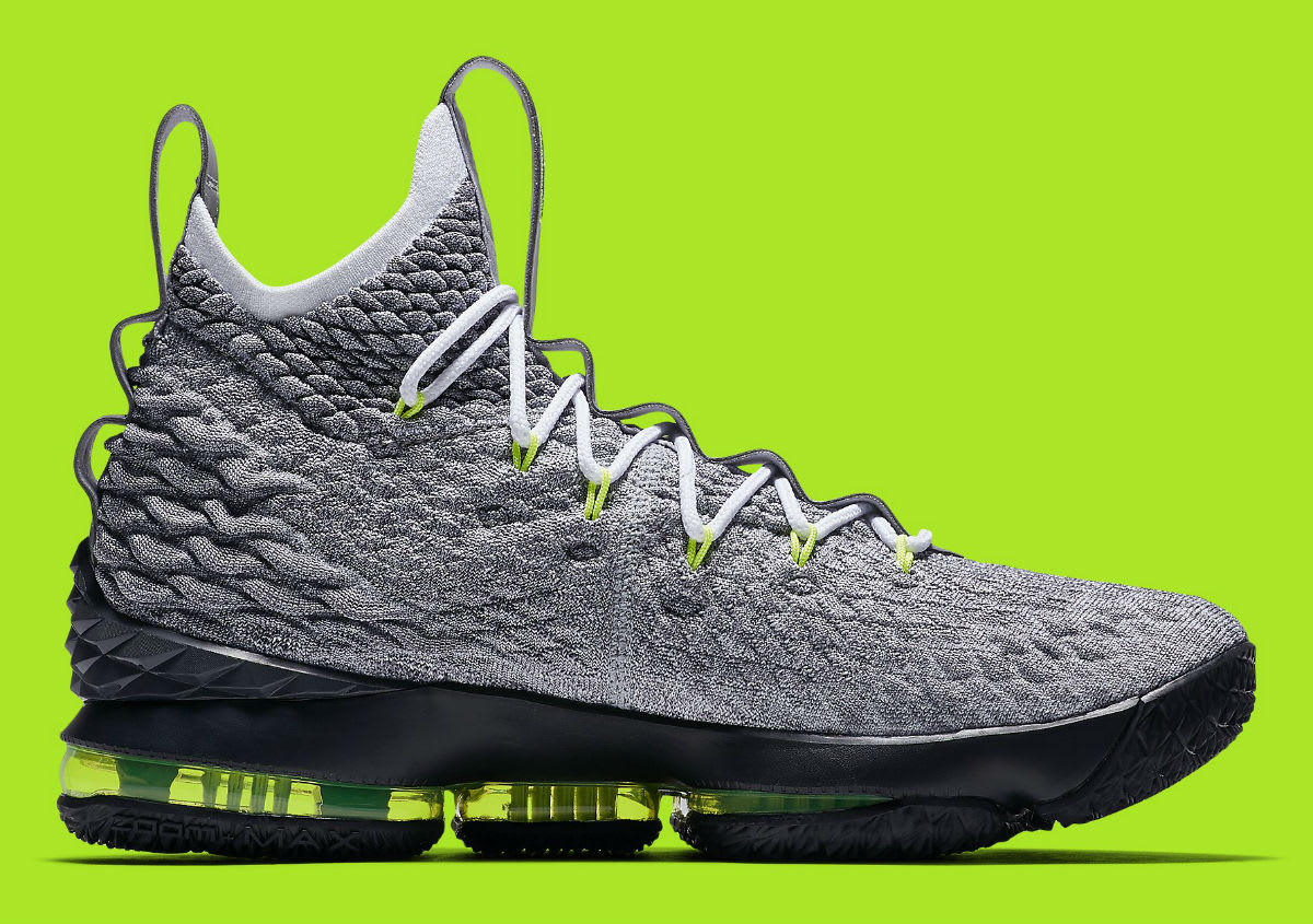 7ff72fc77d6 Release Date03312018. pretty cheap Nike LeBron 15 Air Max 95 Neon Release  Date AR4831-001 Medial ...