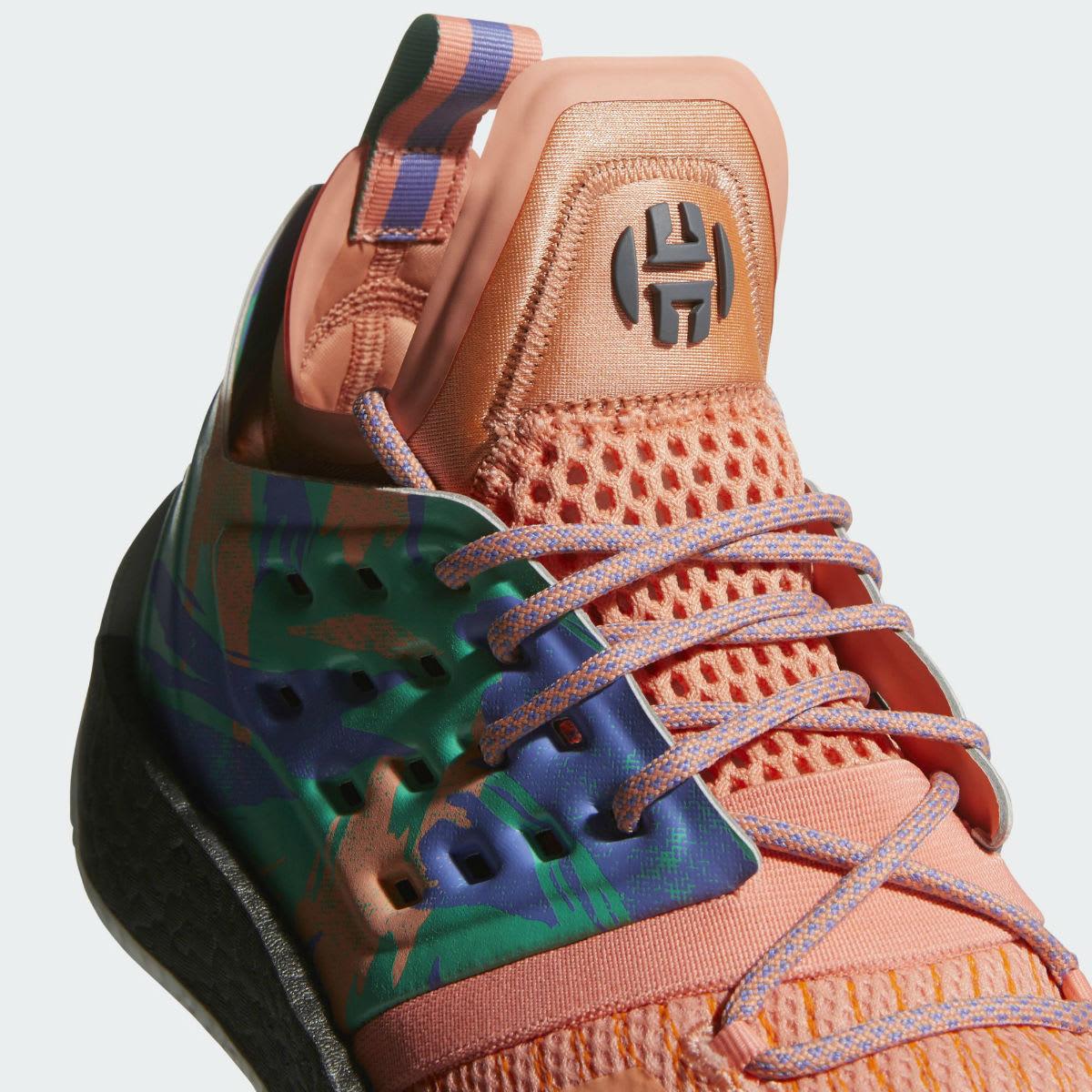 Adidas Harden Vol. 2 Orange Release Date AH2219 Tongue