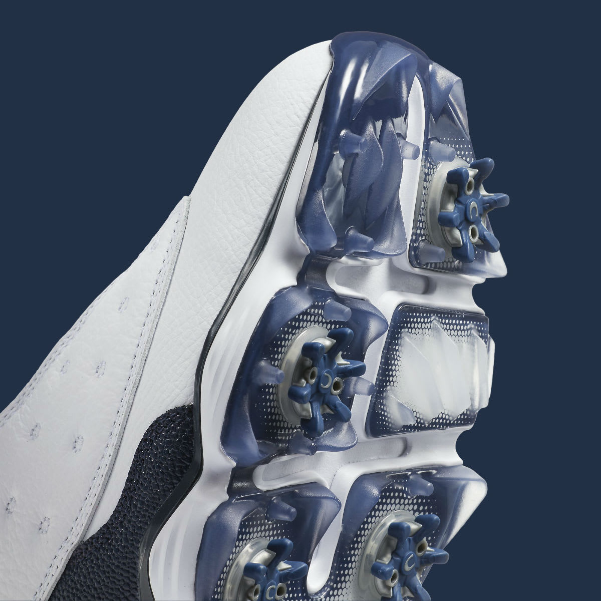 Air Jordan 13 Low Golf Navy Release Date Spikes 917719-100