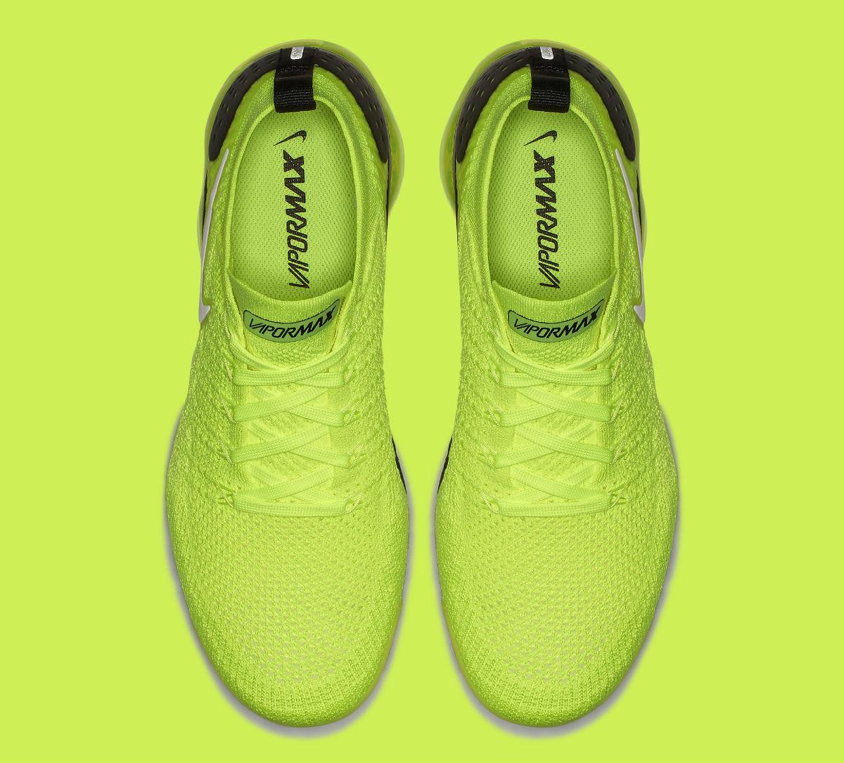 Nike Air VaporMax Flyknit 2 Volt Release Date 942842-700 Top