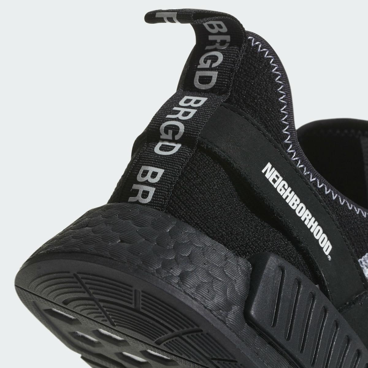 Neighborhood x Adidas NMD R1 Release Date DA8835 Pull-Tab
