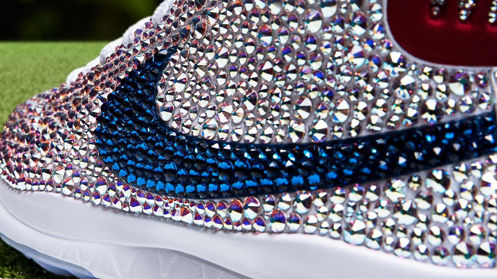 Michelle Wie Swarovski Crystal Nike Blazer Golf Shoes Swoosh