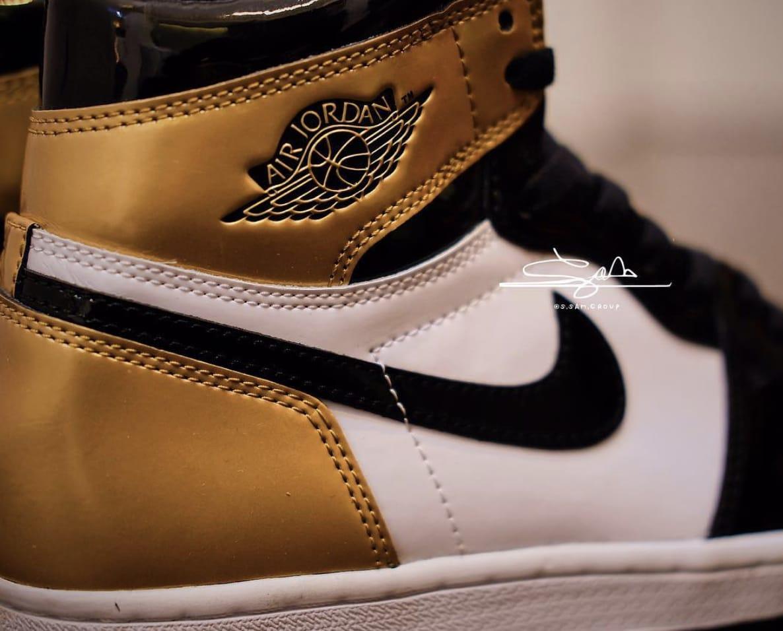 d6079adde41a64 ... sale air jordan 1 gold toe black black white metallic gold aq7474 b5344  300b1