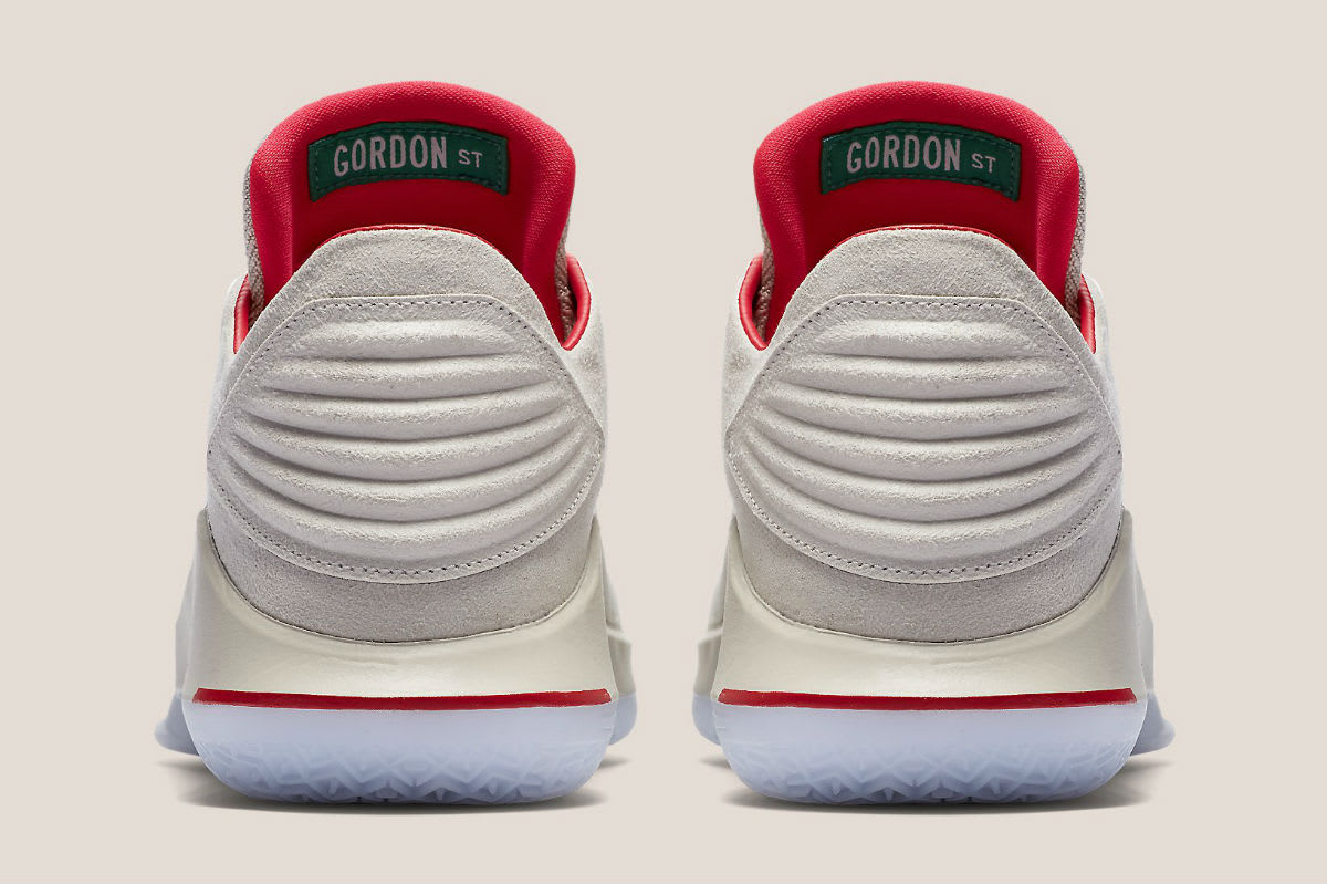 Air Jordan 32 Low Gordon Street Release Date AA1256-004 Heel
