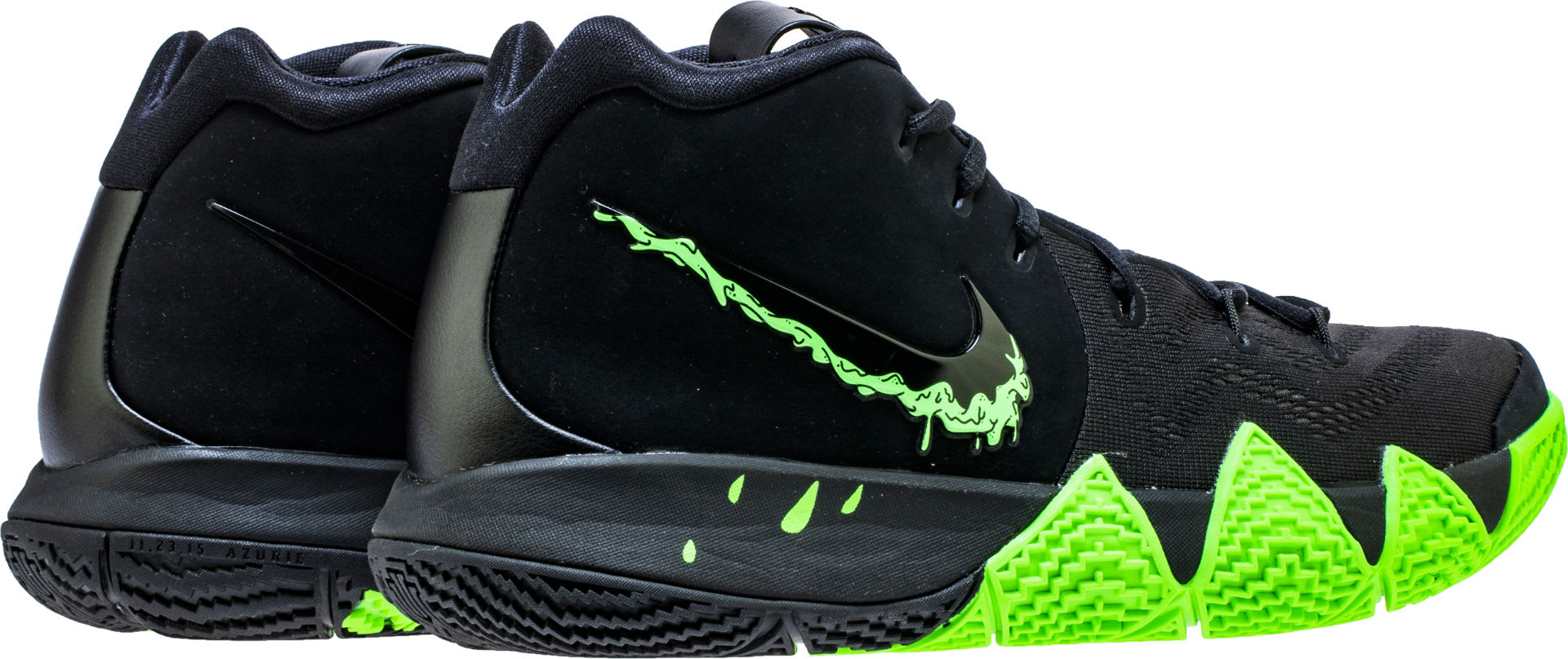 hot sale online 14117 a3c5e Image via Shoe Palace Nike Kyrie 4 Black Rage Green Halloween Release Date  943806-012 Back