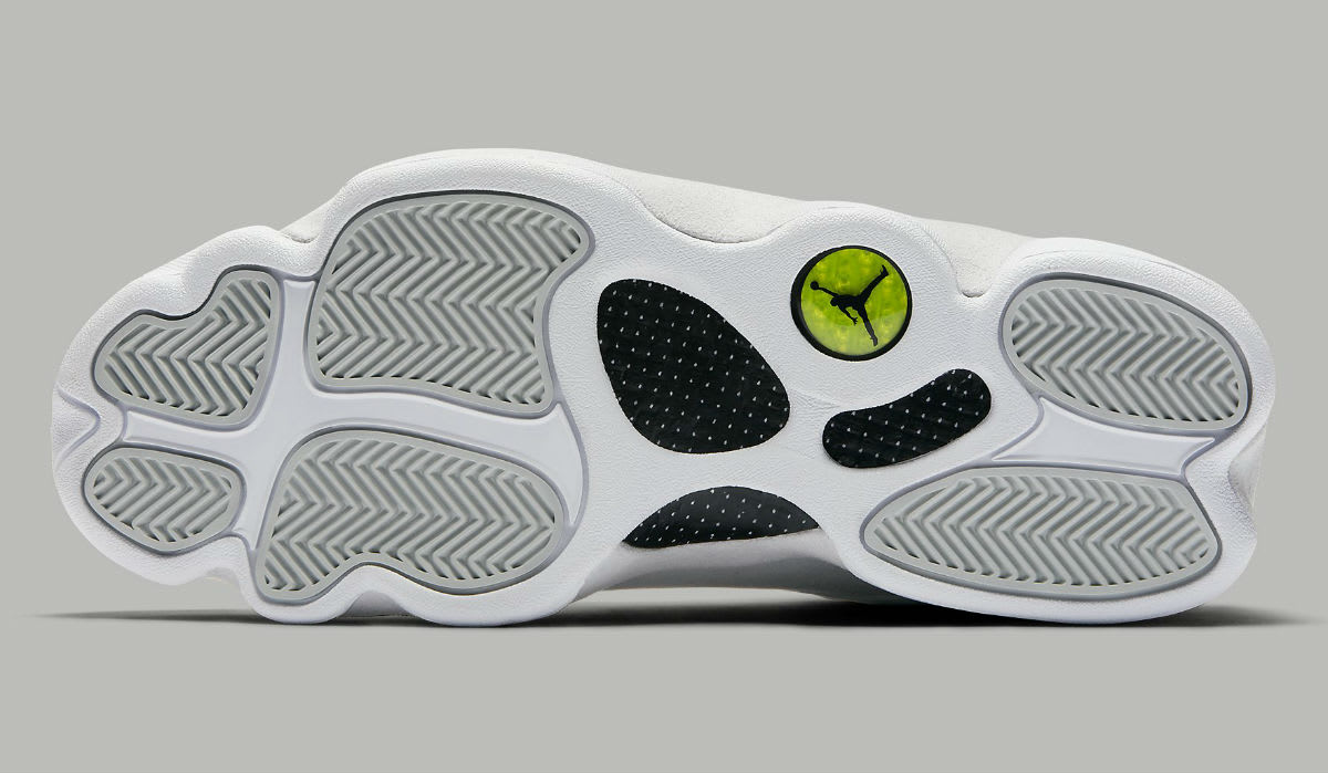 Air Jordan 13 Low Pure Platinum Release Date Sole 310810-100