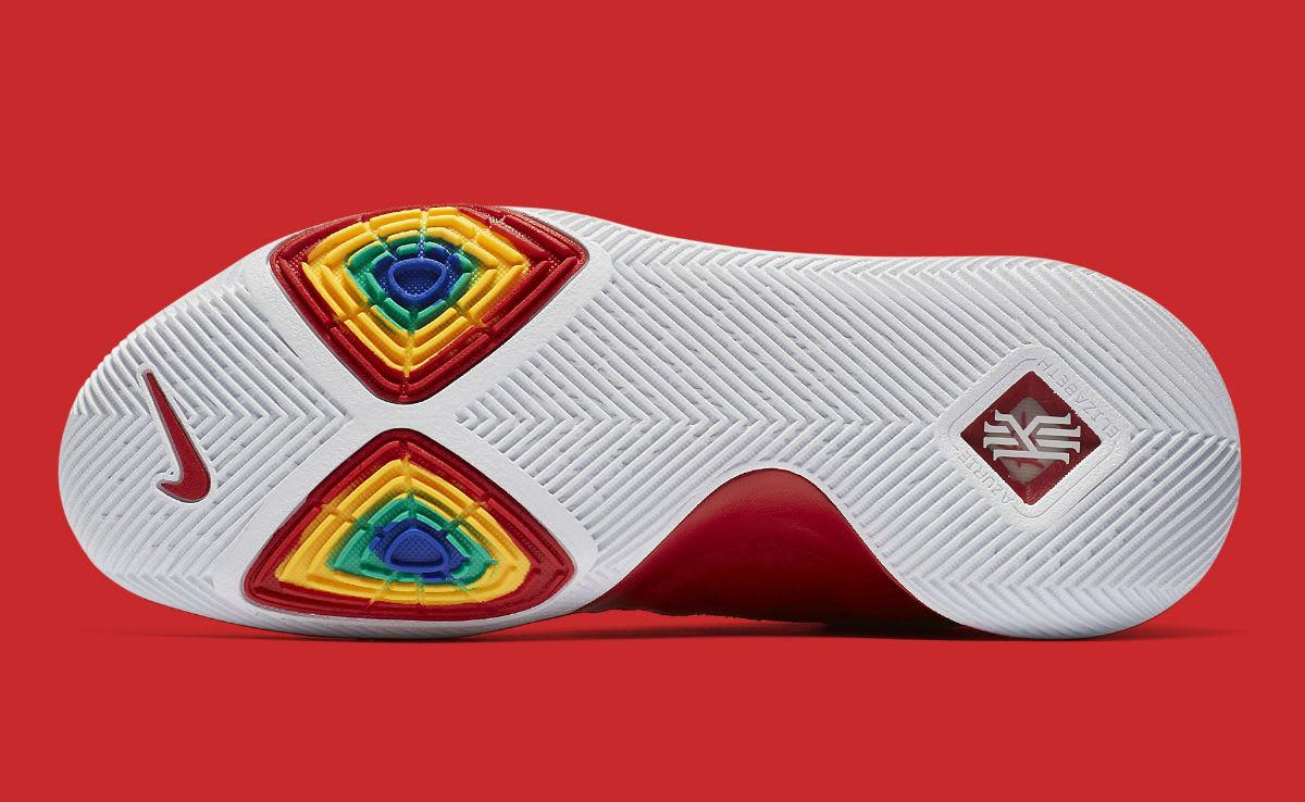 Nike Kyrie 3 University Red Release Date Sole 852395-601