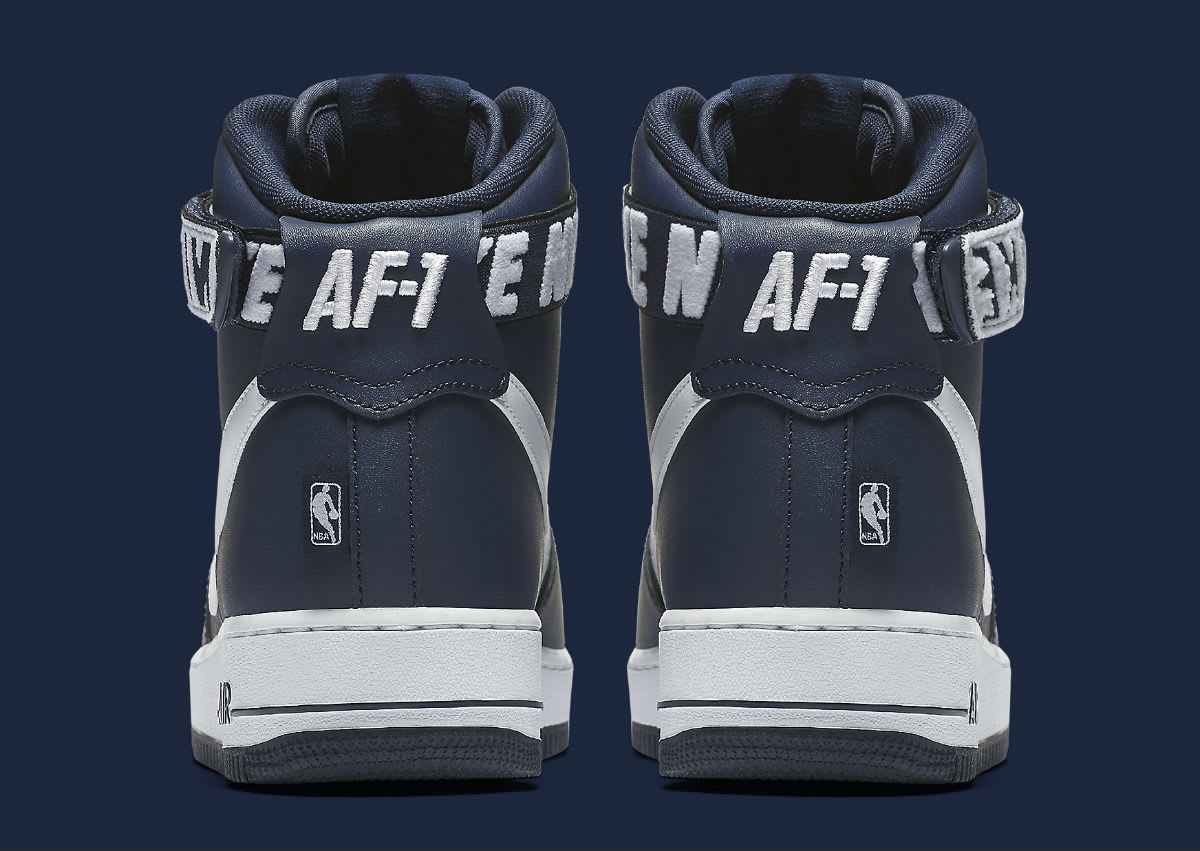 Nike Air Force 1 High NBA Statement Game Navy Release Date Heel 315121-414