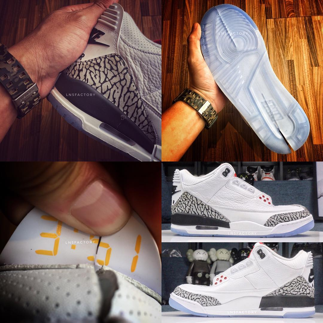 Air Jordan 3 III Clear Sole 2018 Release Date 923096-101 Details