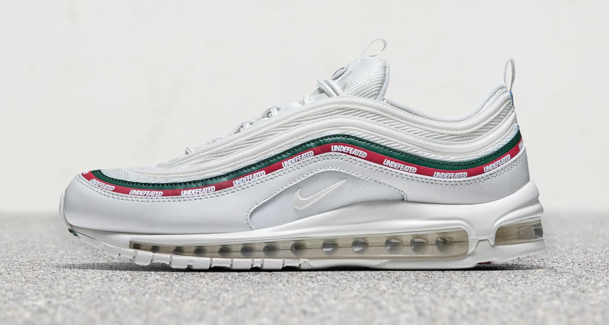 White Undefeated Nike Air Max 97 Profile