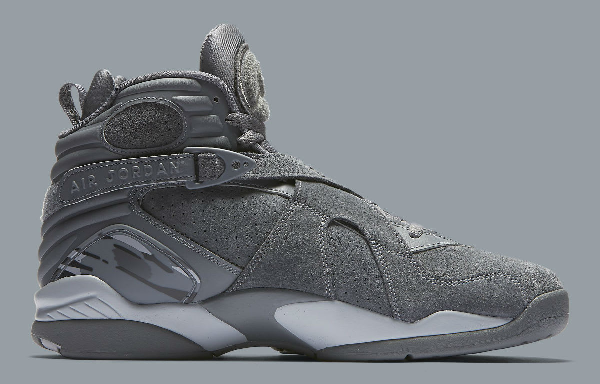 jordan 8 cool grey. air jordan 8 viii cool grey release date medial 305381-014