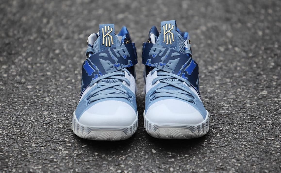 reputable site 84a11 d92b0 ... Tomorrow well see the first colorway of the all-new Nike Kyrie S1  Hybrid release Image via GC911 · Nike Kyrie S1 Hybrid BlueGold (Front) ...