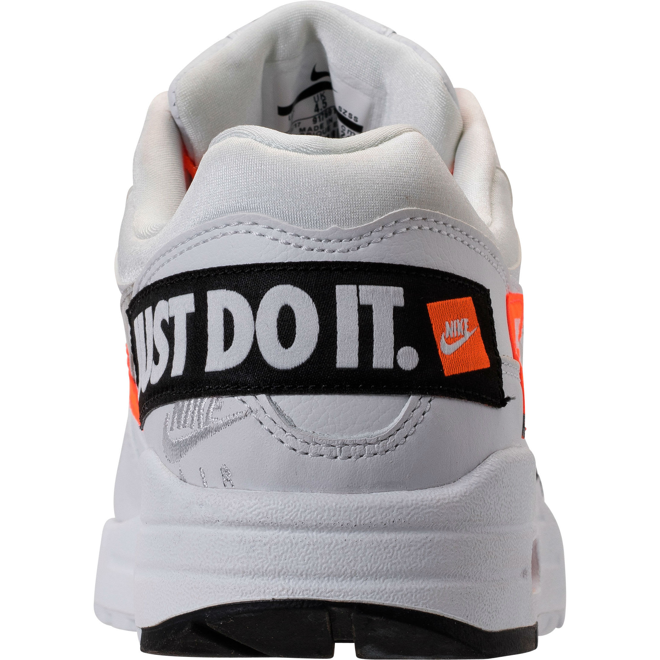 Nike Air Max 1 Just Do It White Release Date 917691-100 Heel