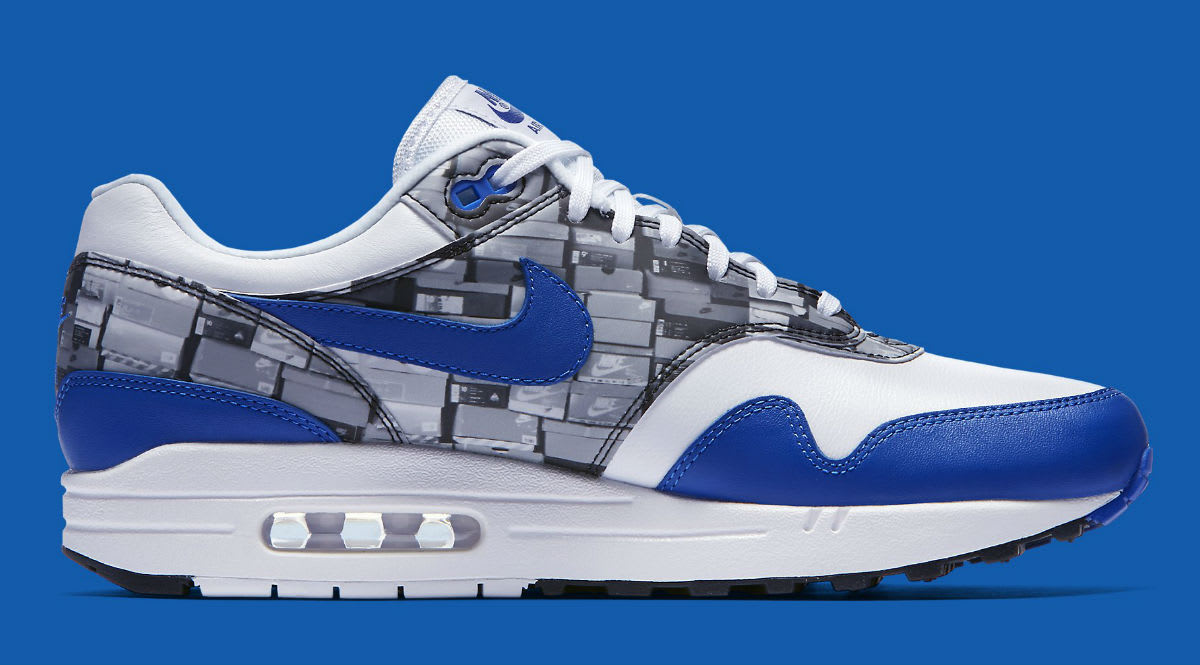 Atmos x Nike Air Max 1 We Love Nike Royal Release Date AQ0927-100 Medial
