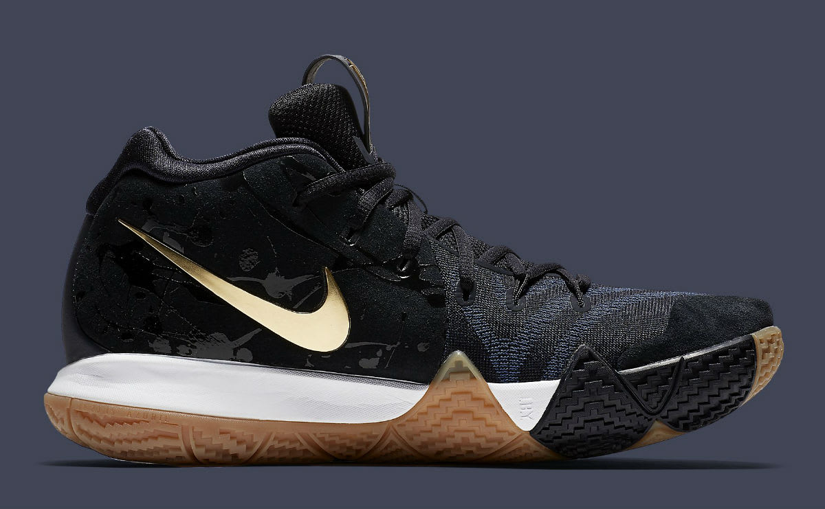 Nike Kyrie 4 Pitch Blue Gold Release Date 943807-403 Medial