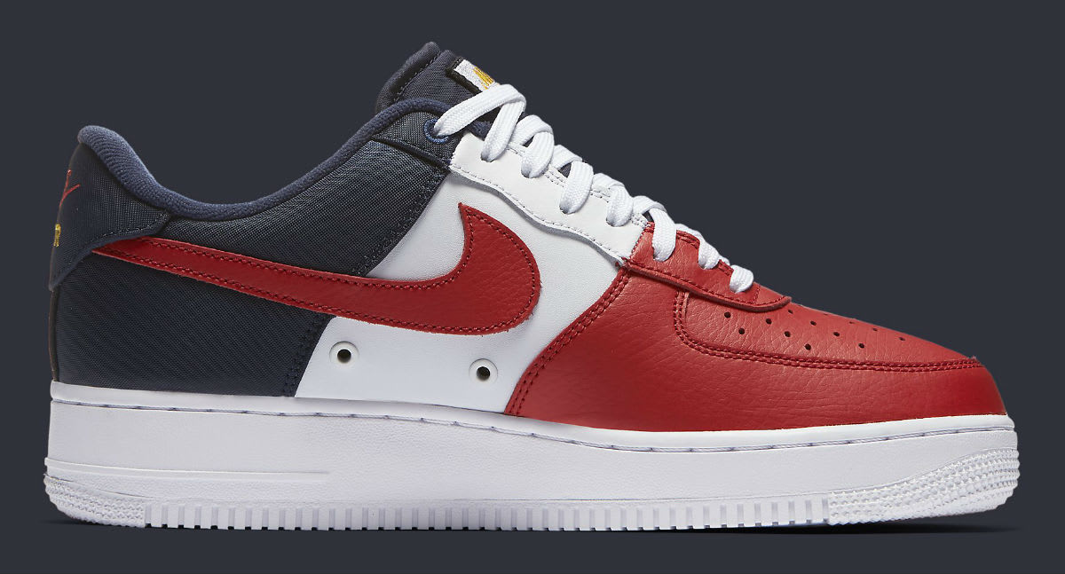 detailed look 7b286 dce25 ... official store nike air force 1 low mini swoosh usa release date medial 823511  601 98da0