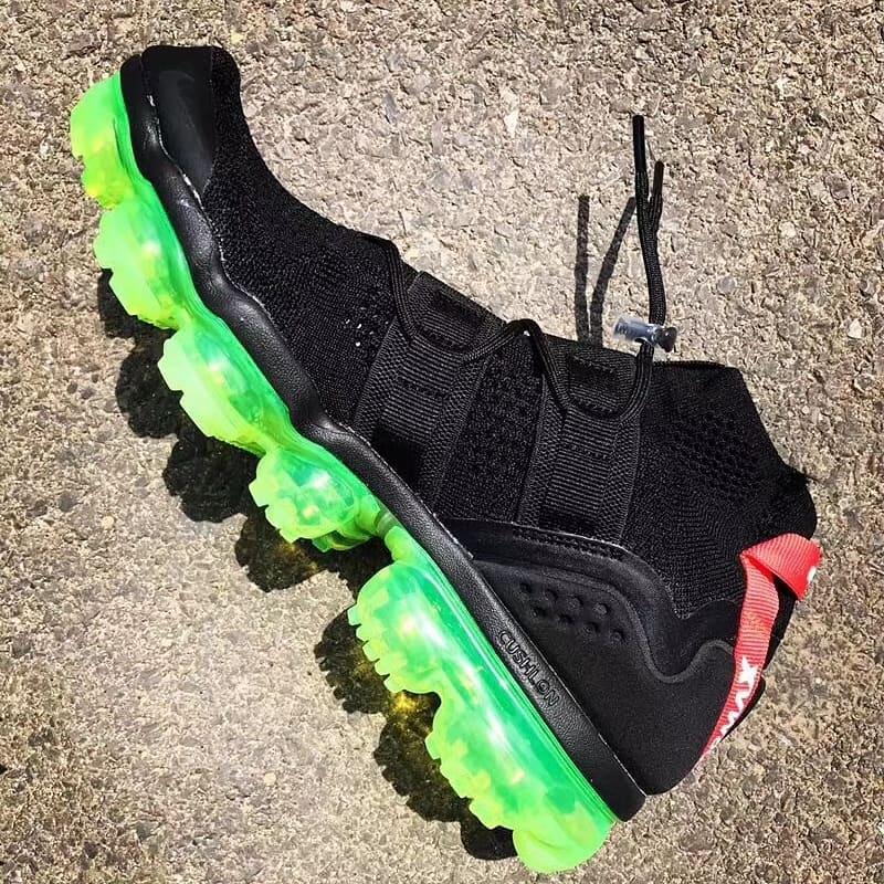 Nike Air VaporMax Utility Black Volt Release Date Medial
