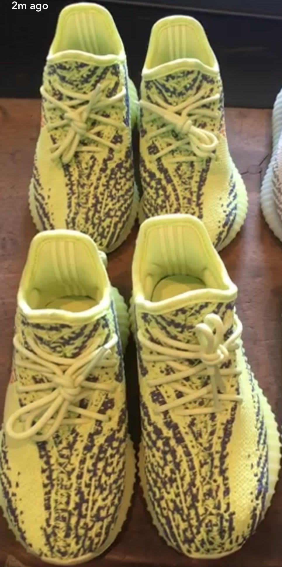 North & Saint West Adidas Yeezy Boost 350 V2 Semi Frozen Yellow
