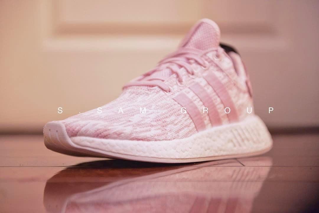 Pink Adidas NMD R2 Quarter