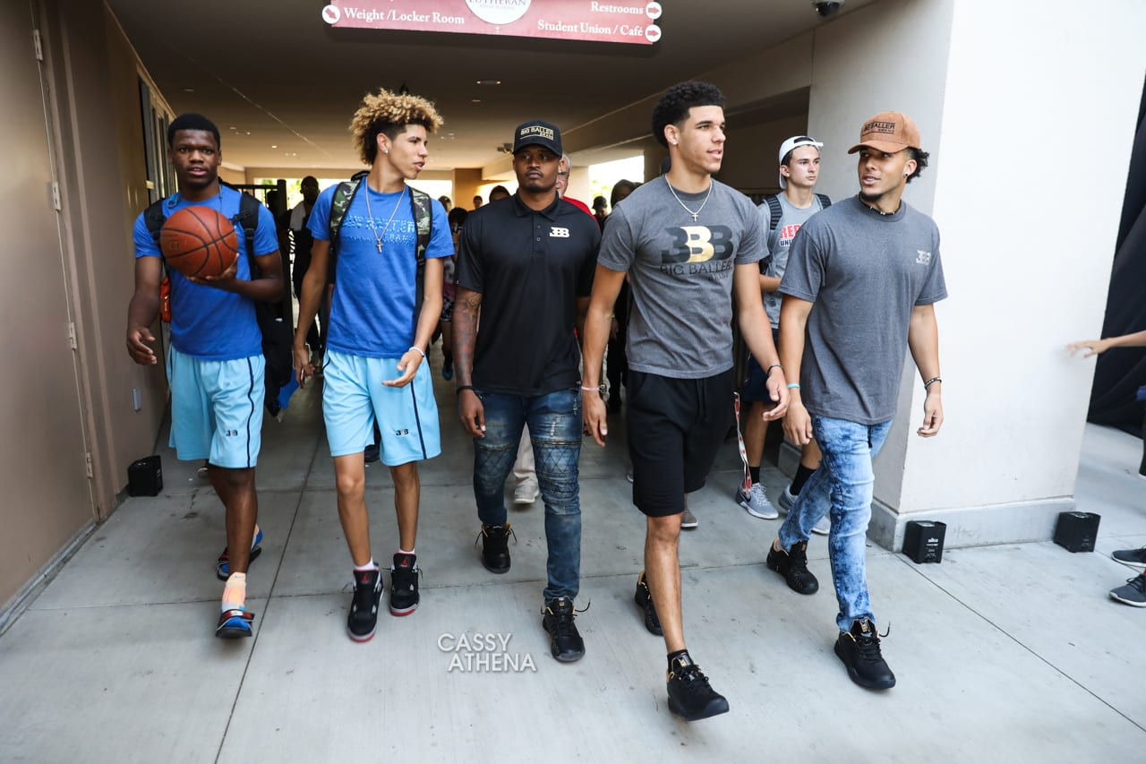 Lonzo Ball wearing Big Baller Brand ZO2