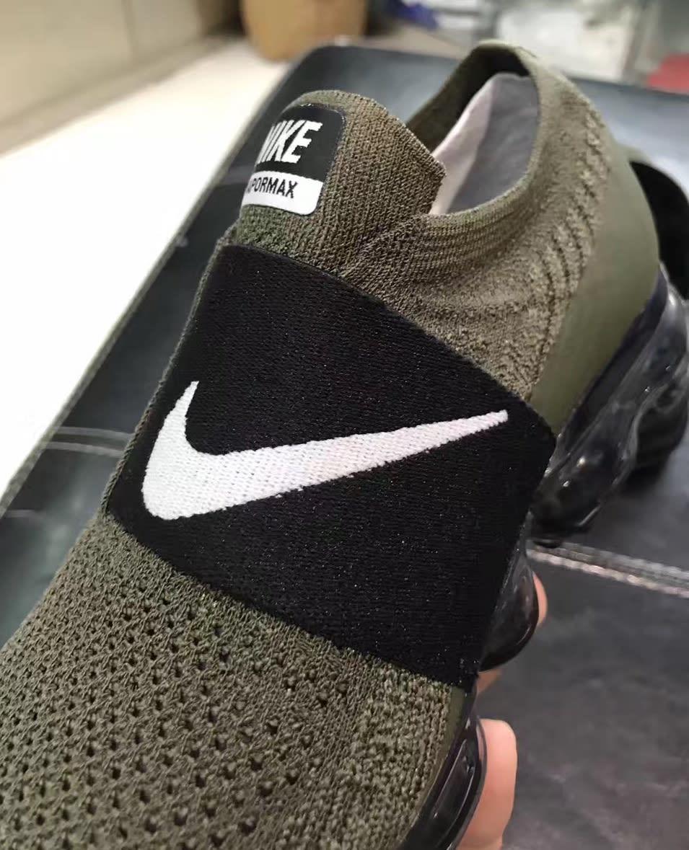 Nike VaporMax Laceless Olive/Black (Lateral)