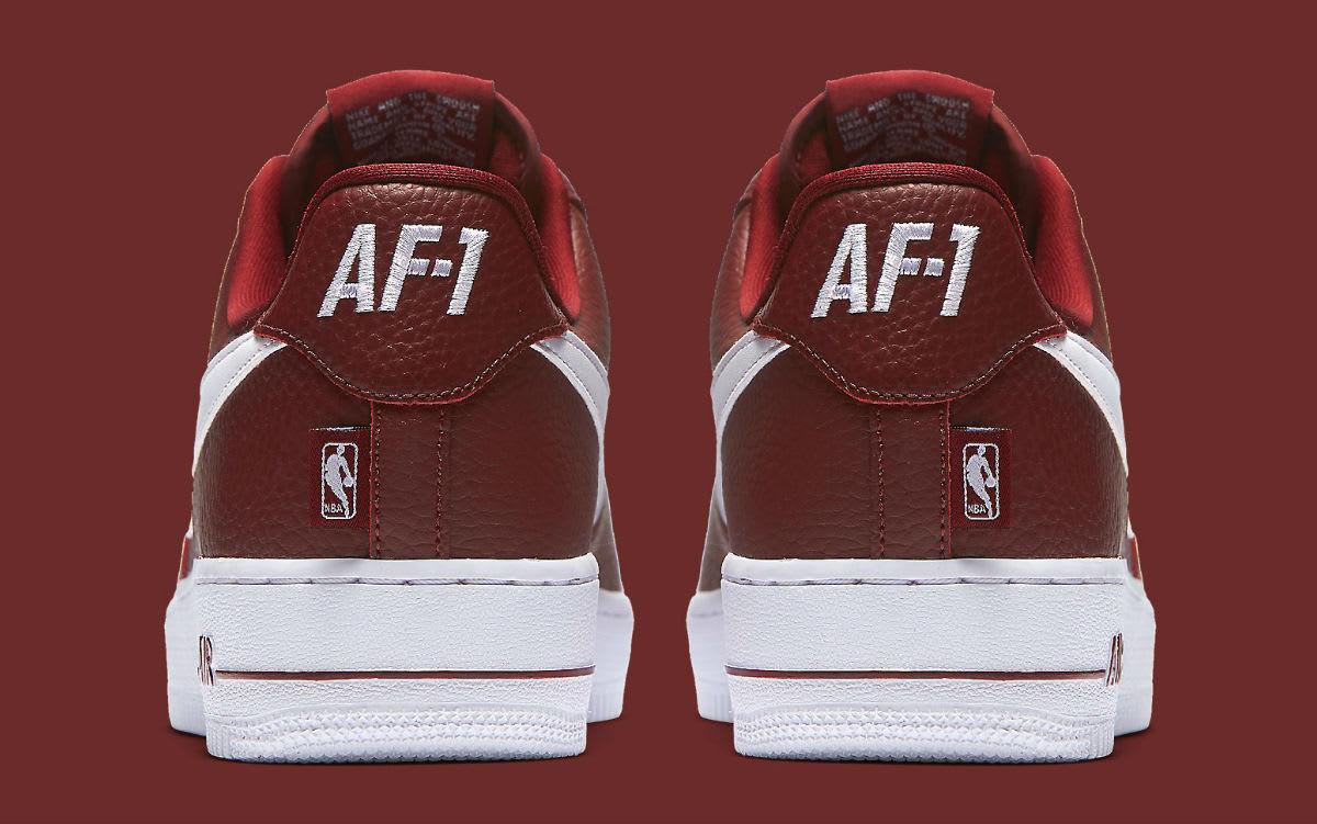 Nike Air Force 1 Low NBA Statement Game Burgundy Release Date Heel 823511-605