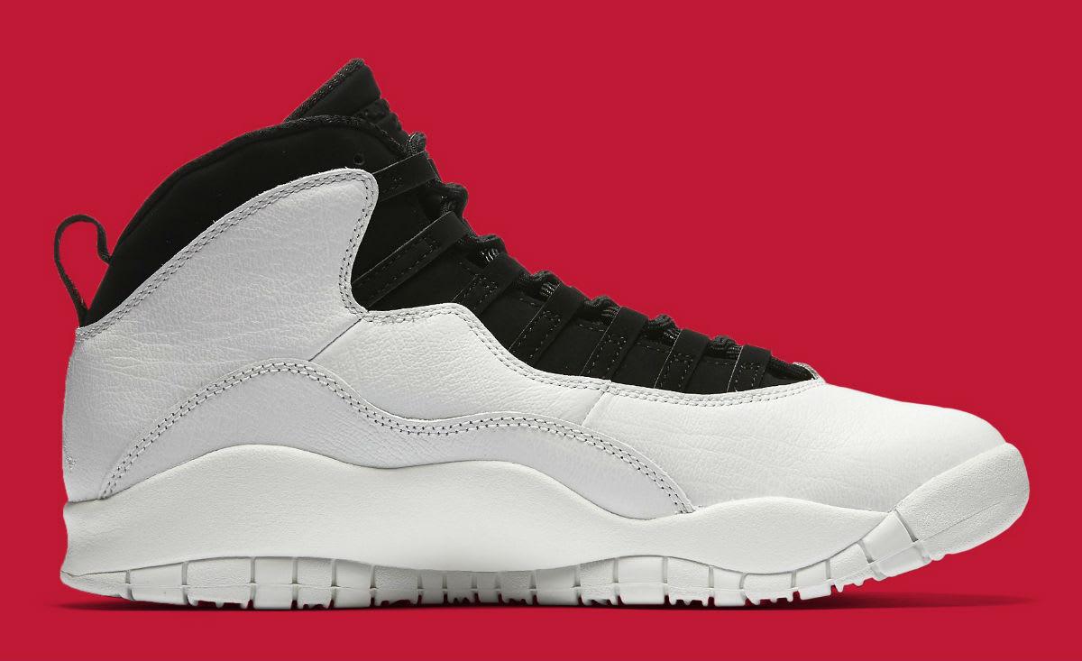 Air Jordan 10 X I'm Back White Black Release date 310805-104 Medial