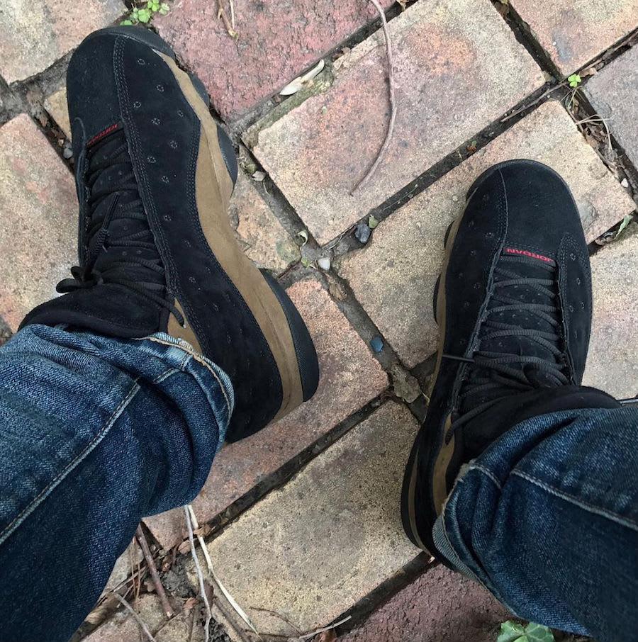 Air Jordan 13 Olive On-Foot 414571-006 Top