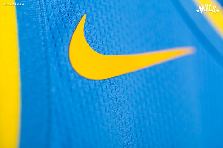 eed234a2f6e ... Image via Los Angeles Lakers · Los Angeles Lakers MPLS Nike Throwback  Jersey ...