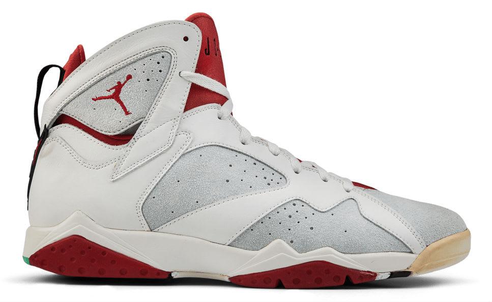 Air Jordan 7 White Red Silver Sample