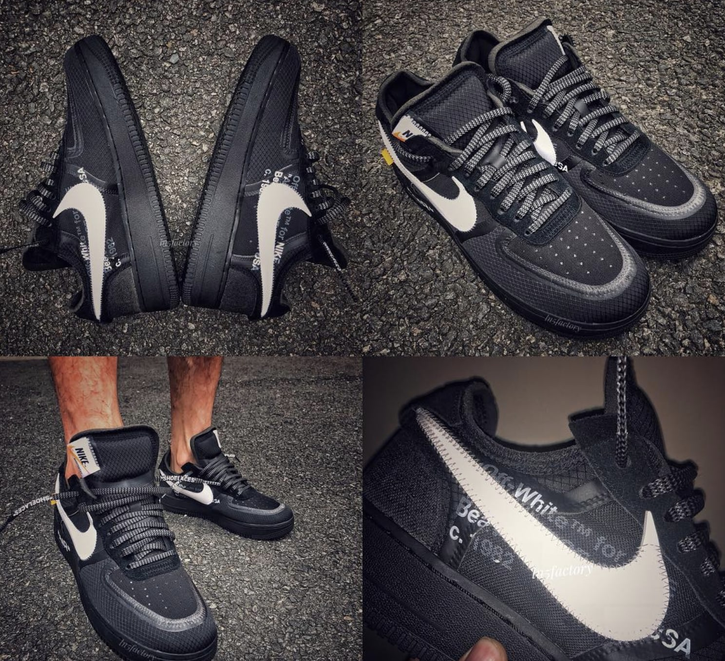 7d7f4f6be8e4 Off-White x Nike Air Force 1 Low Black White AO4606-001 Release Date ...