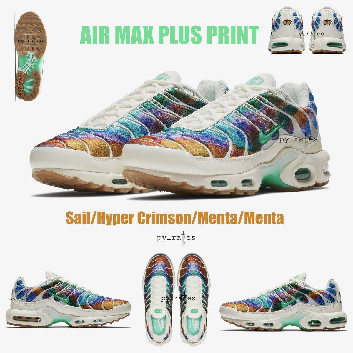 Nike Air Max Plus Print 'Sail/Hyper Crimson/Menta/Menta'