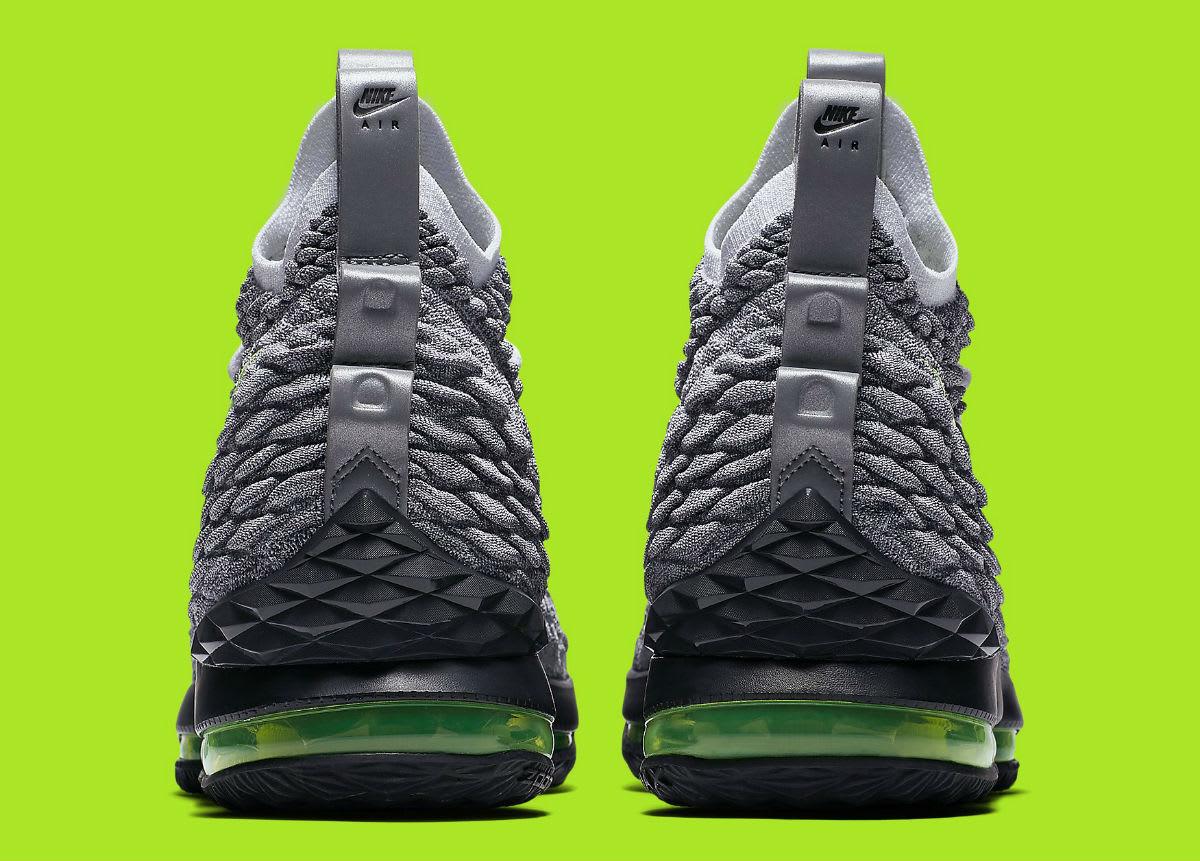 9ae2a09b4b84 ... pretty cheap Nike LeBron 15 Air Max 95 Neon Release Date AR4831-001  Heel ...