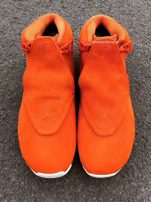 Air Jordan 18 Orange Release Date Front