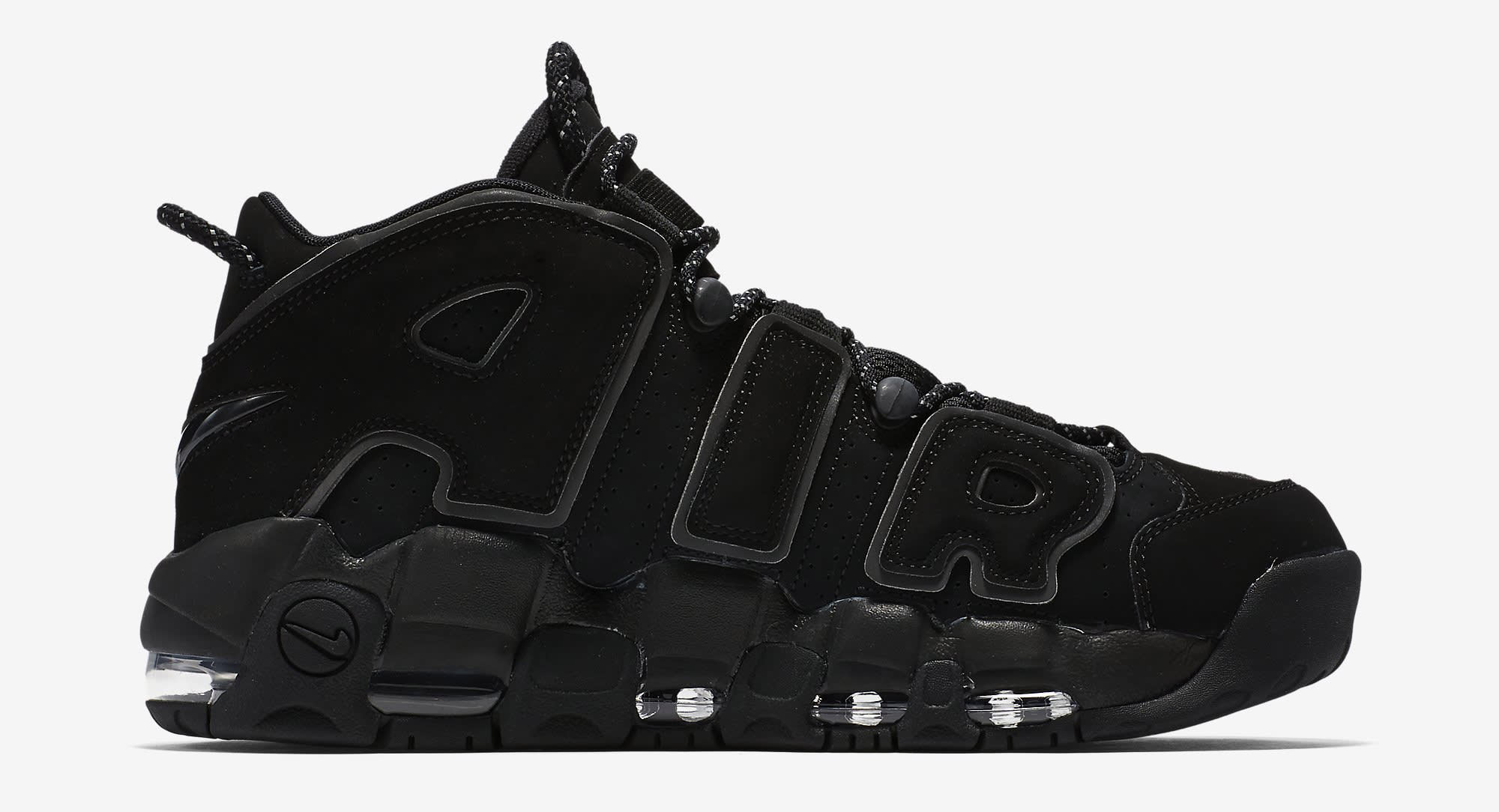 Nike Air More Uptempo Black Reflective 414962-004 Medial