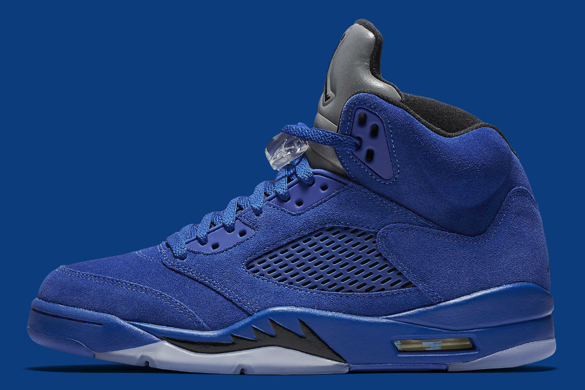 Air Jordan 5 Royal Blue Suede Flight Suit Release Date Profile 136027-401