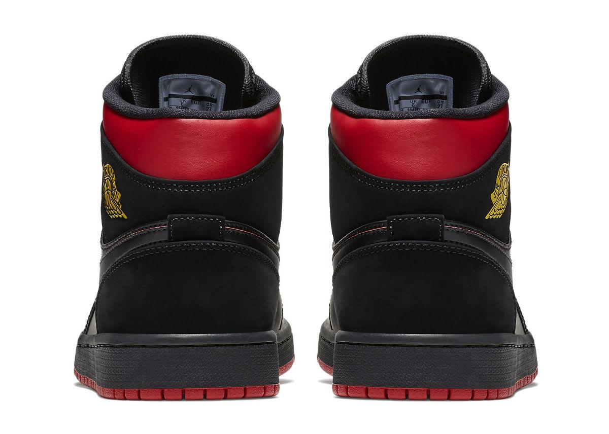 Air Jordan 1 Mid Last Shot Release Date 554724-076 Heel