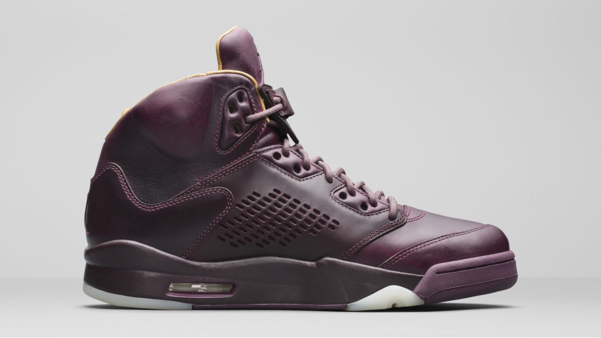 Air Jordan 5 Premium Bordeaux Release Date Left Medial 881432-612