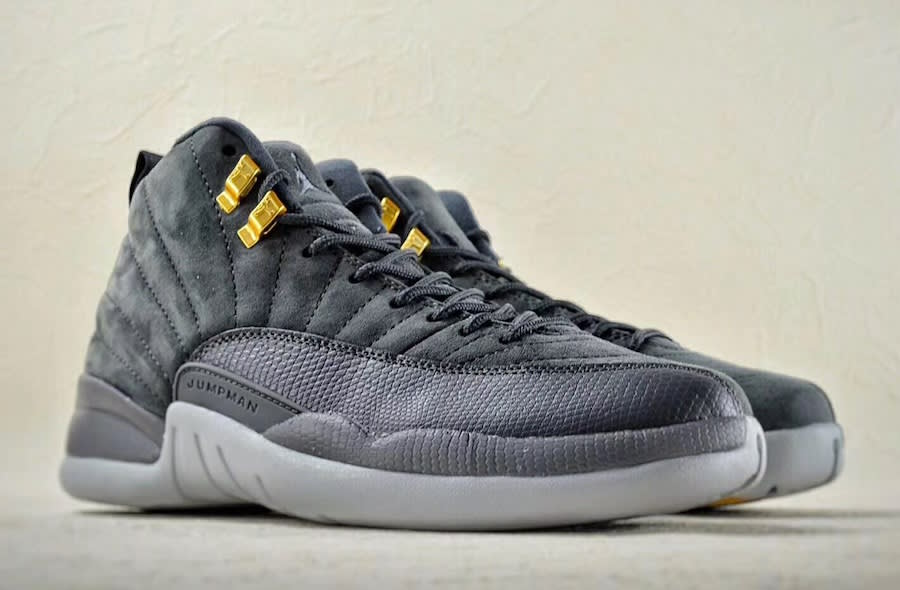 Air Jordan 12 Popular Dark Create Grey Great 130690-005