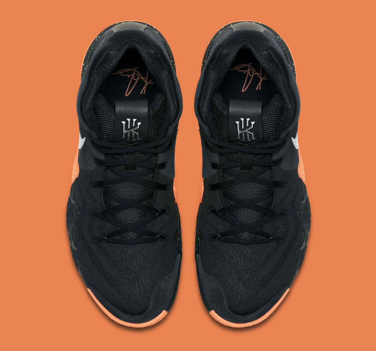 Nike Kyrie 4 Black/Silver-Orange Release Date 943806-010 Top