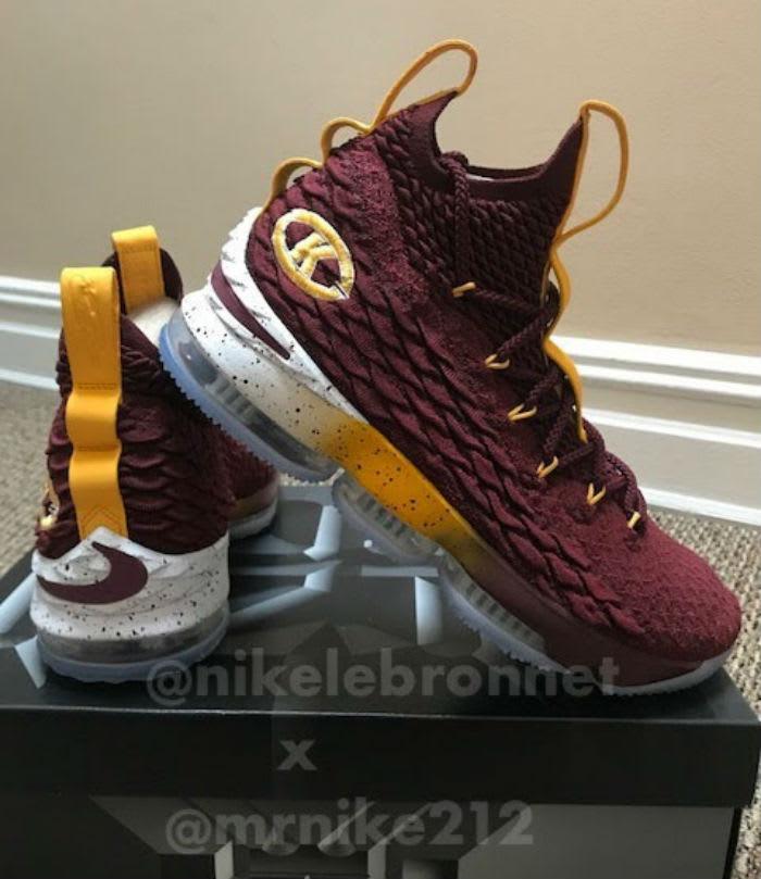 Nike LeBron 15 Christ the King CTK PE Maroon Lateral