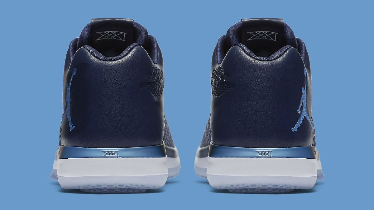 Air Jordan 31 Low UNC Navy Release Date Heel 897564-400