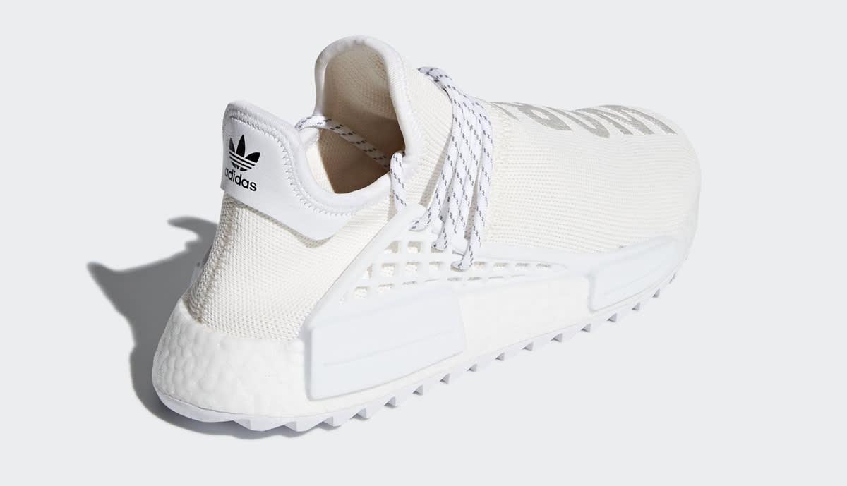 Pharrell Adidas NMD Hu Trail Blank Canvas AC7031 White Heel