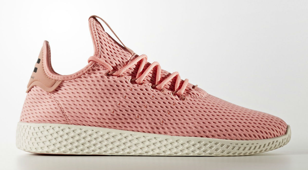 Pharrell x Adidas Tennis Hu Haze Coral Profile